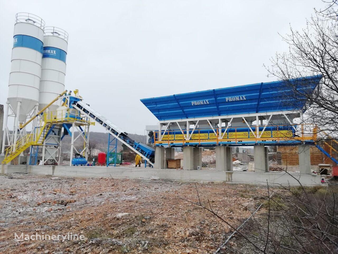 trạm trộn bê tông PROMAX Compact Concrete Batching Plant C60-SNG-LINE (60m3/h) mới