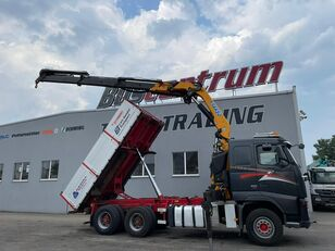 khung xe container VOLVO FH 520 6x4 Crane EFFER 305 / Kipper