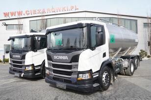 xe bồn chở sữa SCANIA P410 , E6 , 6X2 , 20.000km ! ! ! , 2 units , steer/lift axle , 3