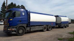 xe tải nhiên liệu SCANIA R420 6x2 fuel tank + xe rơ moóc chở xăng dầu