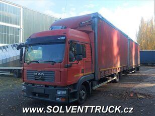xe tải phủ bạt MAN TGL 12.240, Euro 4 + xe rơ moóc kiểu lật