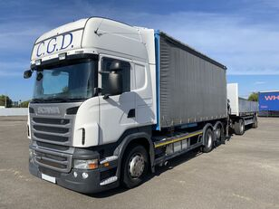 xe tải phủ bạt SCANIA R440 EU5 6x2 PALFINGER BDF RETARDER
