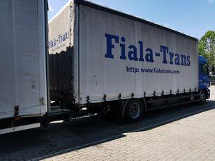 xe tải phủ bạt MAN + xe rơ moóc kiểu lật