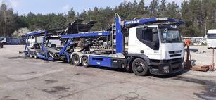 xe tải vận chuyển ô tô IVECO + rơ moóc vận chuyển xe hơi