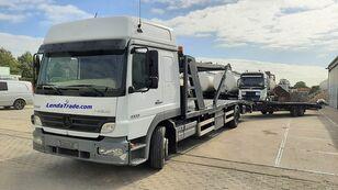 xe tải vận chuyển ô tô MERCEDES-BENZ Atego 1323 / 7 Cars / Winch / Airco + rơ moóc vận chuyển xe hơi