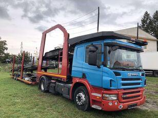 xe tải vận chuyển ô tô SCANIA P400 + rơ moóc vận chuyển xe hơi